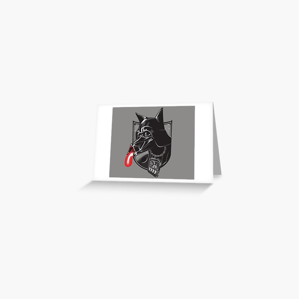 Darth Doggo Greeting Card