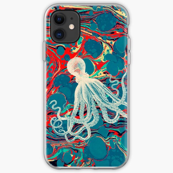 Marbled Paper Octopus Blob by Pepe Psyche iPhone Soft Case
