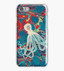 Marbled Paper Octopus Blob by Pepe Psyche iPhone Case/Skin