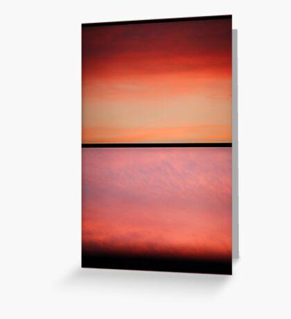 smoked salmon sunset Greeting Card