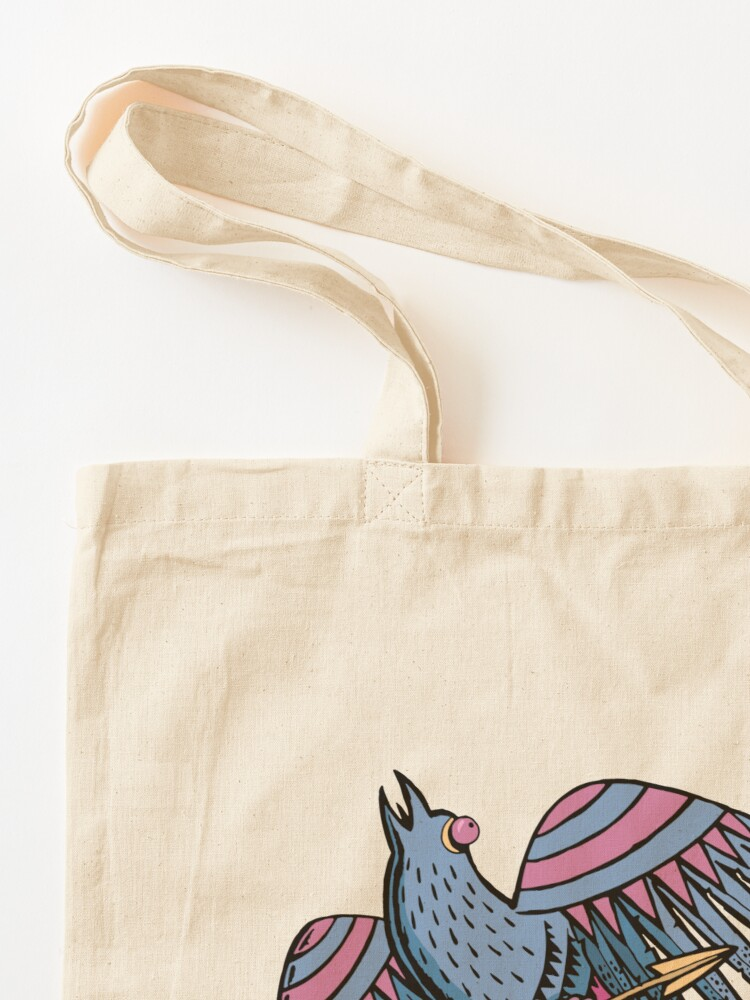 Alternate view of myth bird and the arrow Tote Bag