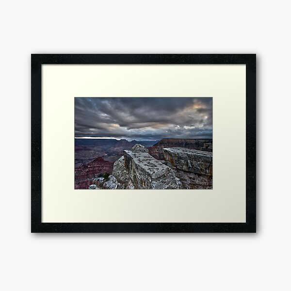 Looking for the Sunrise, Grand Canyon Framed Art Print