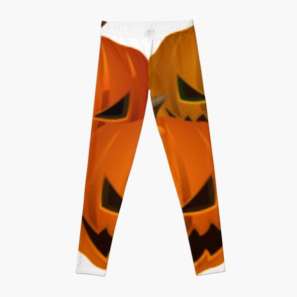 #halloween #pumpkin #orange #autumn #holiday #isolated #lantern #october #evil #face #white #jackolantern #horror #scary #jack #decoration #spooky #3d #vegetable #illustration  Leggings