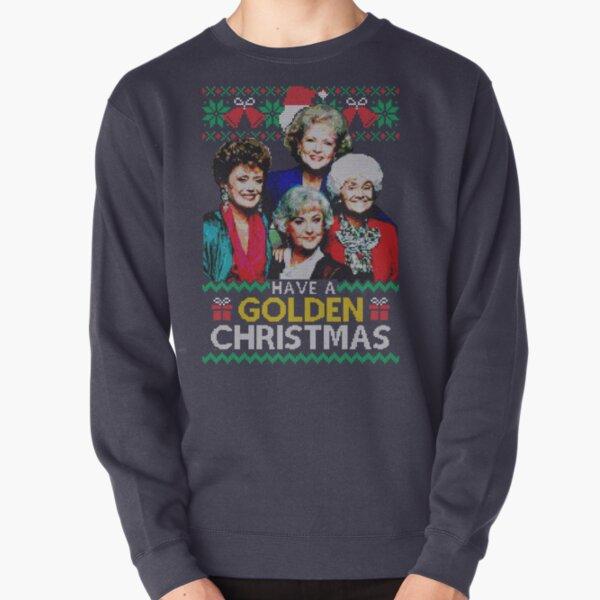 Golden Christmas Pullover Sweatshirt