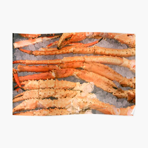 Crab Legs on Ice Poster