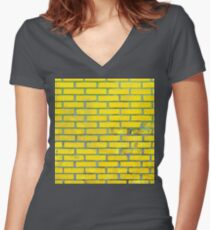 Yellow bricks Women's Fitted V-Neck T-Shirt
