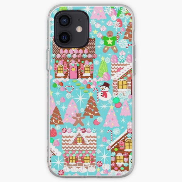 Christmas Gingerbread House, Holiday Village iPhone Soft Case