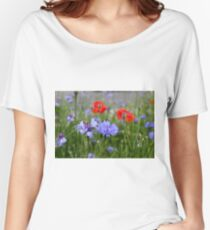 cornflowers and poppies Women's Relaxed Fit T-Shirt