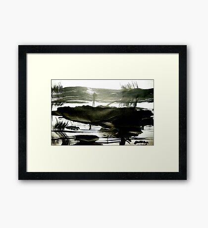 I spied a goddess bathing...... inland isle Framed Print
