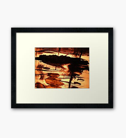 sunlit goddess...... inland isle reflections Framed Print