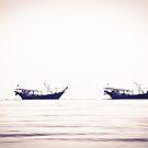 Fishing boats returning home, Kuwait by NicoleBPhotos