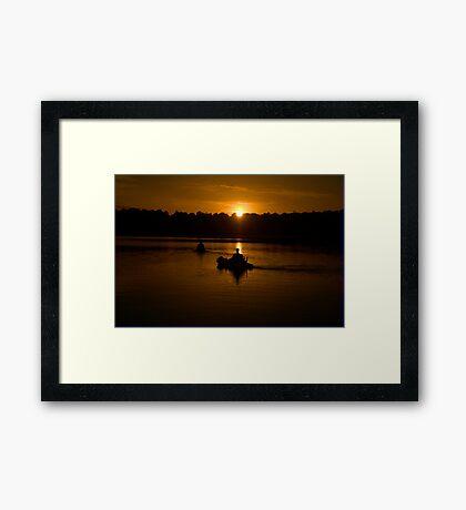 Tranquility - Narrabeen Lakes, Sydney - The HDR Experience Framed Print
