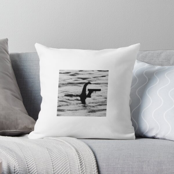 GLOCK NESS MONSTER Throw Pillow