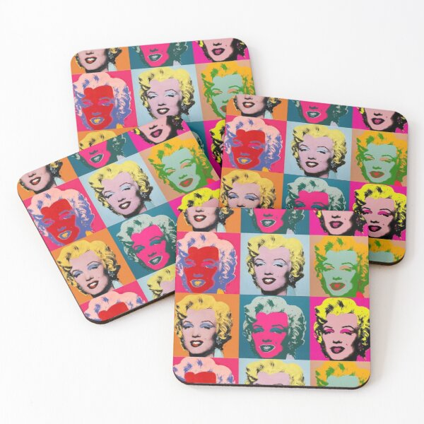 Andy Warhol, Marilyn Monroe Coasters (Set of 4)
