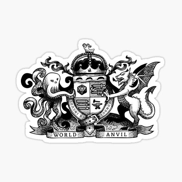 World Anvil 2nd Anniversary Logo Sticker