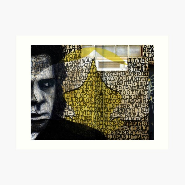 The Mercy Seat - Nick Cave (Walls Notebook) Art Print