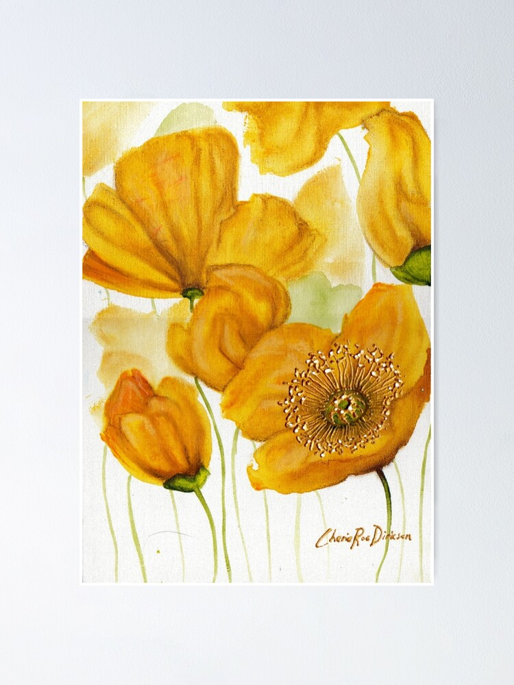 Alternate view of Yellow Poppies Poster