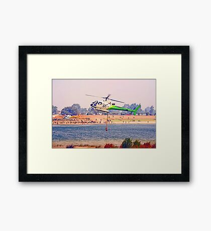 Helitankers At Champion Lakes  Framed Print