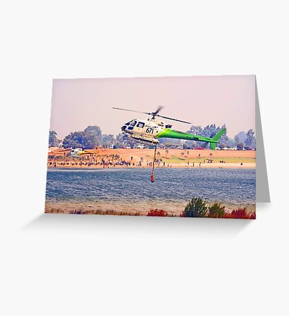 Helitankers At Champion Lakes  Greeting Card