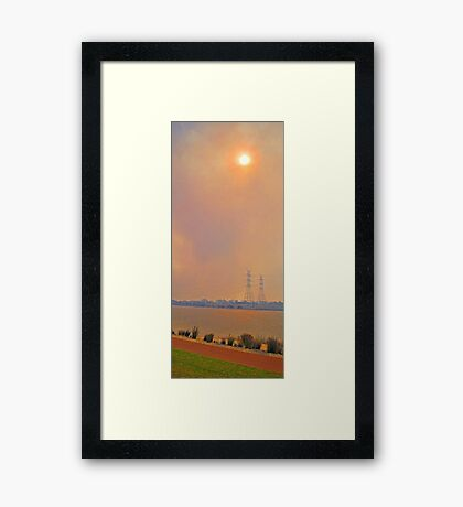 Champion Lakes Bushfire  Framed Print