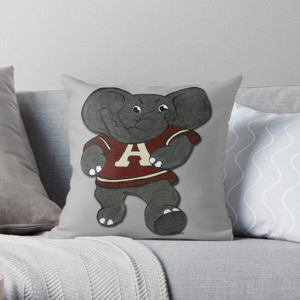 Alabama Roll Tide Elephant Mascot Throw Pillow