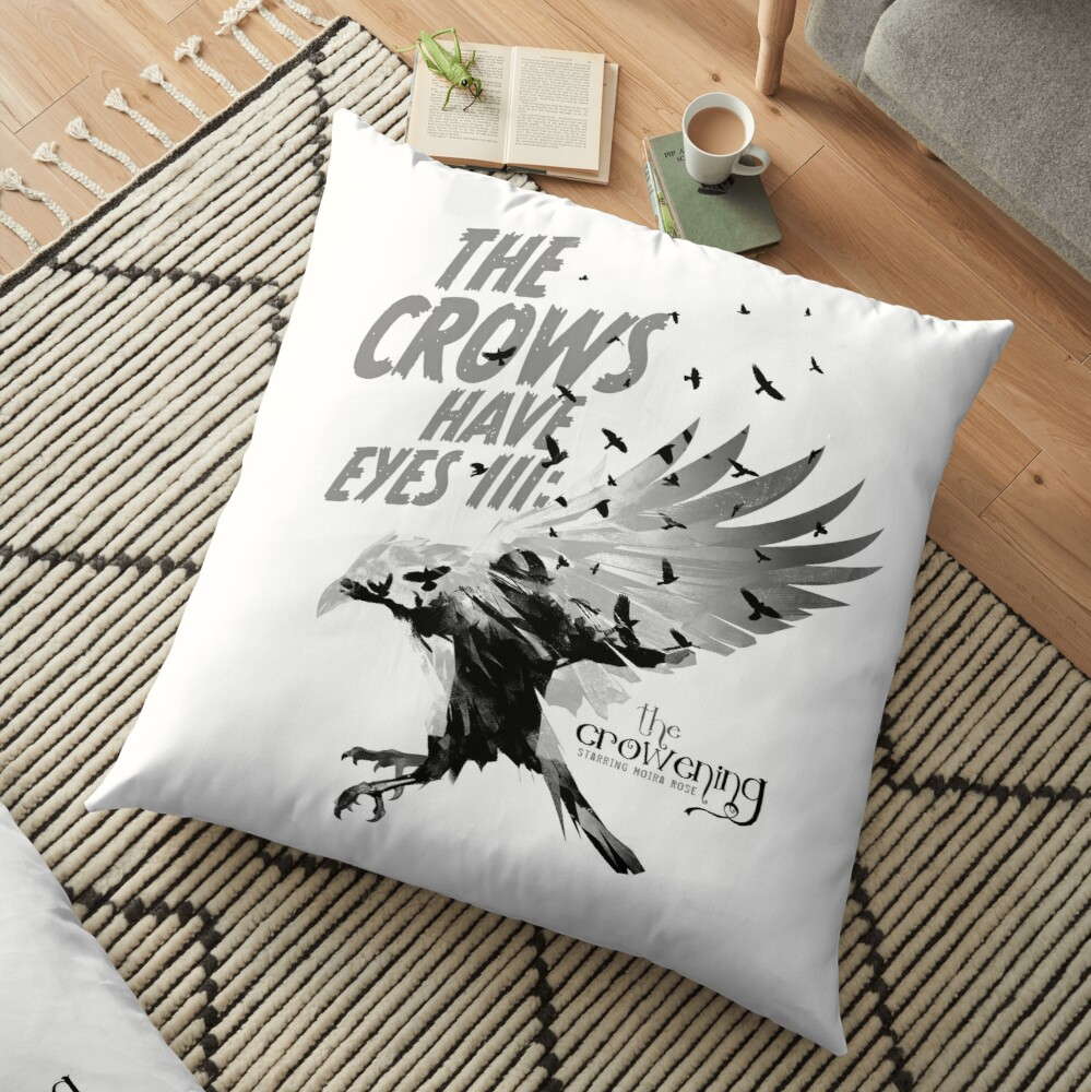 The Crows Have Eyes III:  The Crowening Floor Pillow