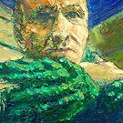 Portrait Of Old Sweater  /  2010  /  oil on cardboard by Ivan KRUTOYAROV