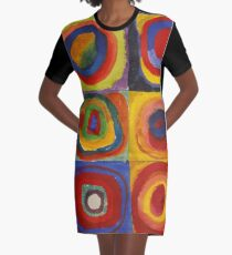 Squares with Concentric Circles, 1913 Wassily, Kandinsky Graphic T-Shirt Dress