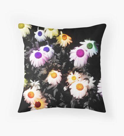 Black Polychromatic Throw Pillow
