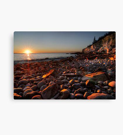 Sunrise at Rocky Beach, Acadia NP, ME Canvas Print