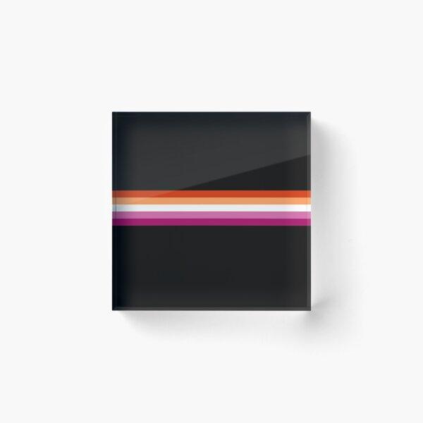 Lesbian (new) Pride Stripe Acrylic Block