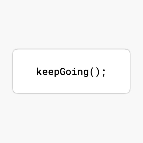 JavaScript - Keep Going (Inverted) Sticker