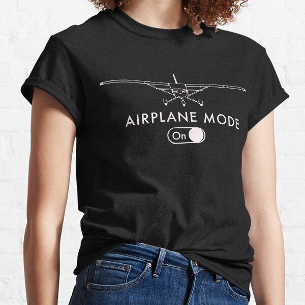Cadeau du pilote drôle Mode avion activé T-shirt classique