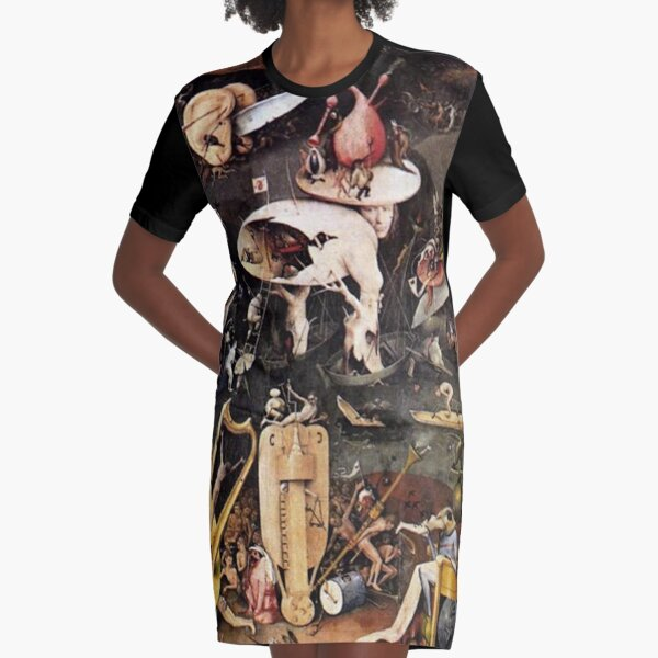 Hieronymus Bosch. The Garden Of Earthly Delights. (detail). Graphic T-Shirt Dress