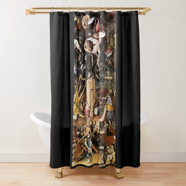 Hieronymus Bosch. El jardín de las delicias. (detalle). Cortina de ducha