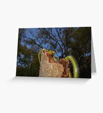 Green Tree Snake 2 Greeting Card