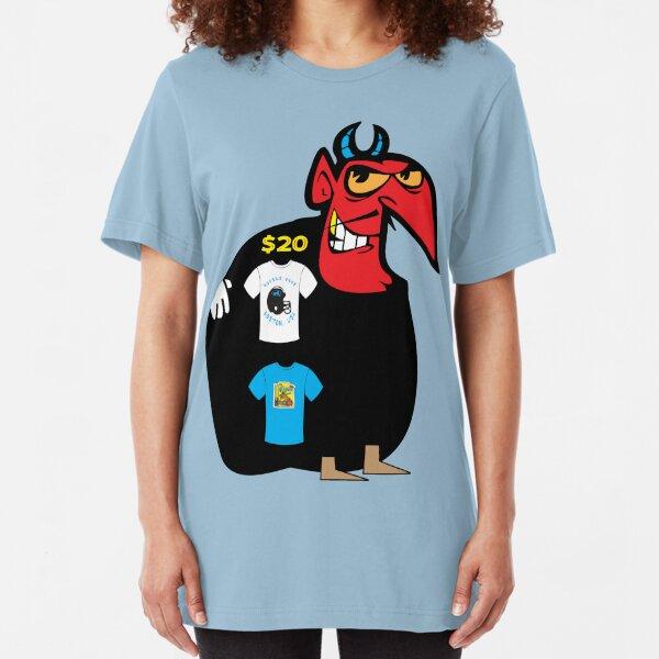 usa boston devil tshirt by rogers bros Slim Fit T-Shirt