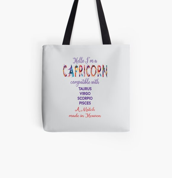 Capricorn Compatible Signs All Over Print Tote Bag