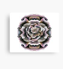 Sweet Pink Acrylic Rose Painting Canvas Print