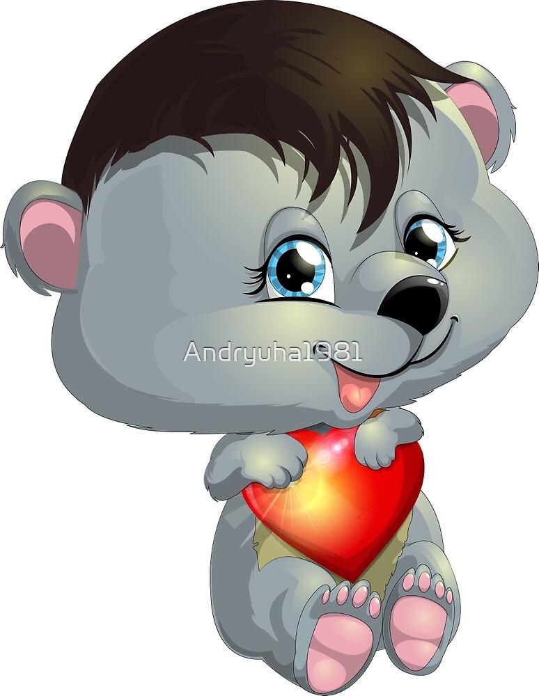 bear and heart by Andryuha1981