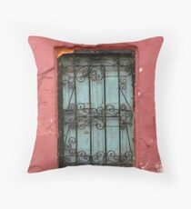 Ornamental old window, Morocco Throw Pillow