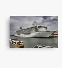 Crystal Serenity Cruise Liner Canvas Print