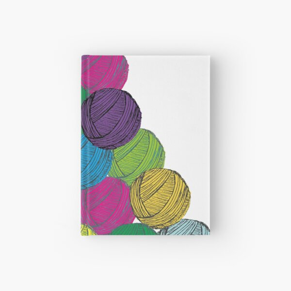 A colourful, joyful pile of yarn/wool for all things knitting, crochet and weaving Hardcover Journal