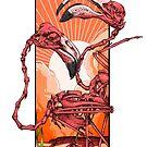 Dancing Flamingos  by Squishysquid