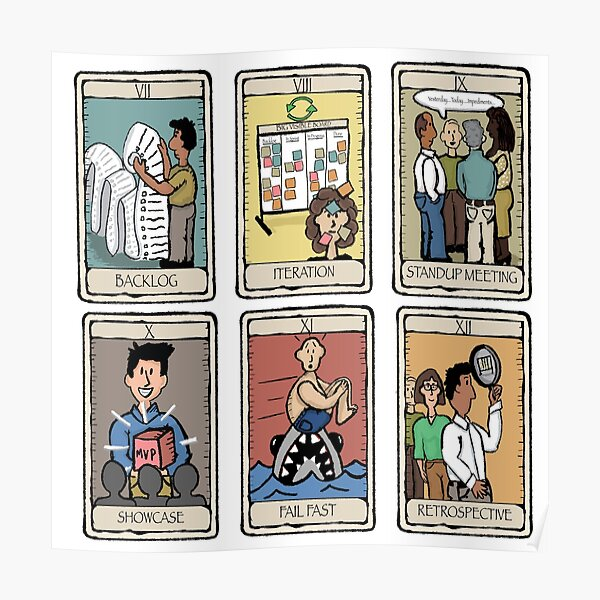 Office Tarot - Series 2 Agile Poster