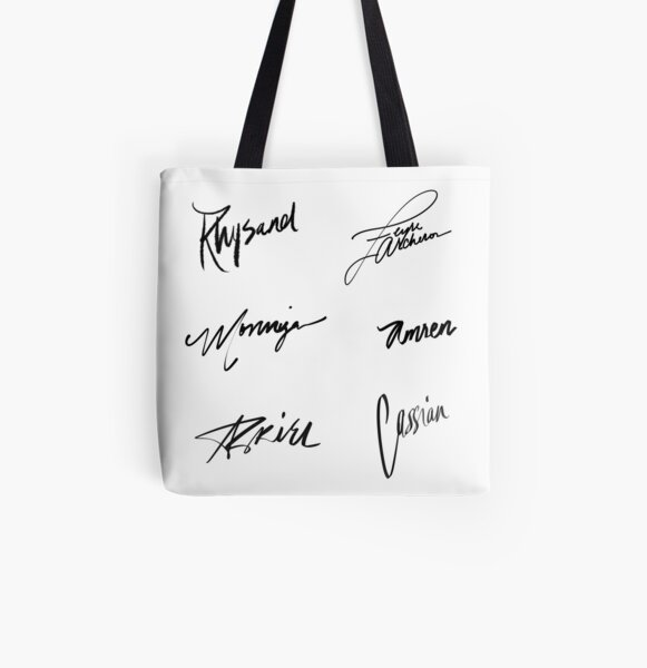 A Court of Thorns and Roses | Character Signatures All Over Print Tote Bag