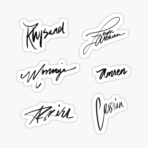 A Court of Thorns and Roses | Character Signatures Sticker