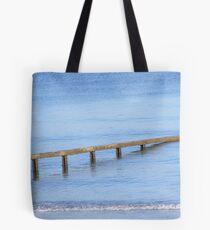 Sea defences.  Tote Bag