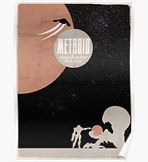 Minimalist Video Games: Metroid Poster