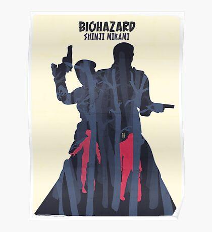 Minimalist Video Games: Resident Evil  Poster
